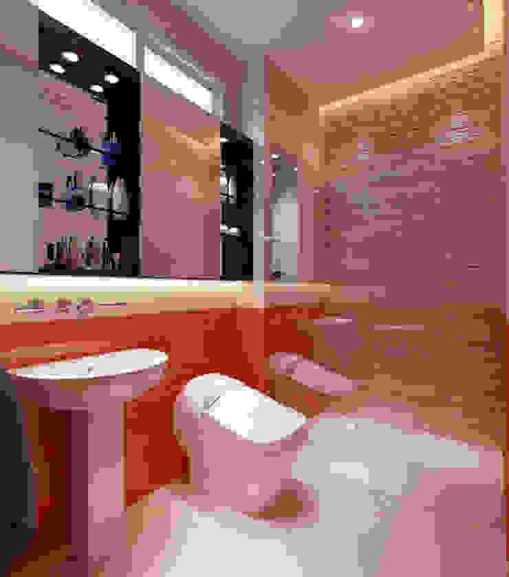 Phối cảnh nội thất tầng 3 Phòng tắm phong cách hiện đại bởi Công ty TNHH Xây Dựng TM – DV Song Phát Hiện đại