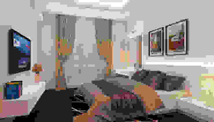 Phối cảnh nội thất tầng 4 Phòng ngủ phong cách hiện đại bởi Công ty TNHH Xây Dựng TM – DV Song Phát Hiện đại