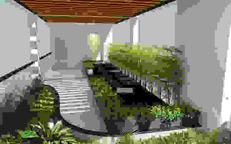Phối cảnh nội thất tầng 4 Hiên, sân thượng phong cách hiện đại bởi Công ty TNHH Xây Dựng TM – DV Song Phát Hiện đại