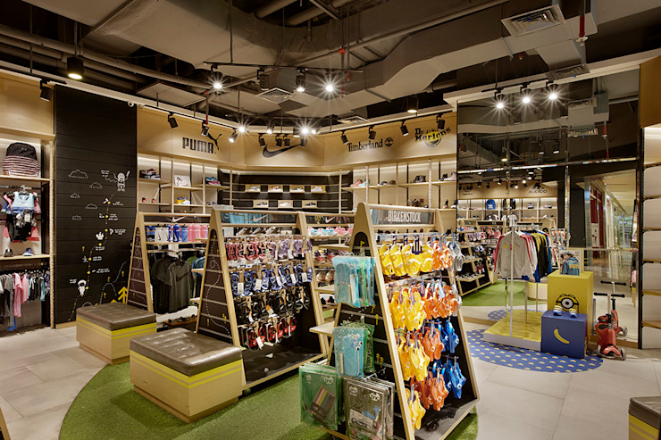 Wilio Kids Sportwear Ruang Komersial Gaya Industrial Oleh High Street Industrial