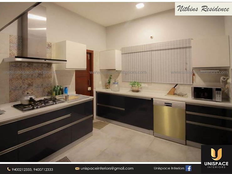 RESIDENCE VILLA APARTMENT INTERIORS -CONTEMPORARY INTERIORS- KITCHEN by UNISPACE INTERIOR
