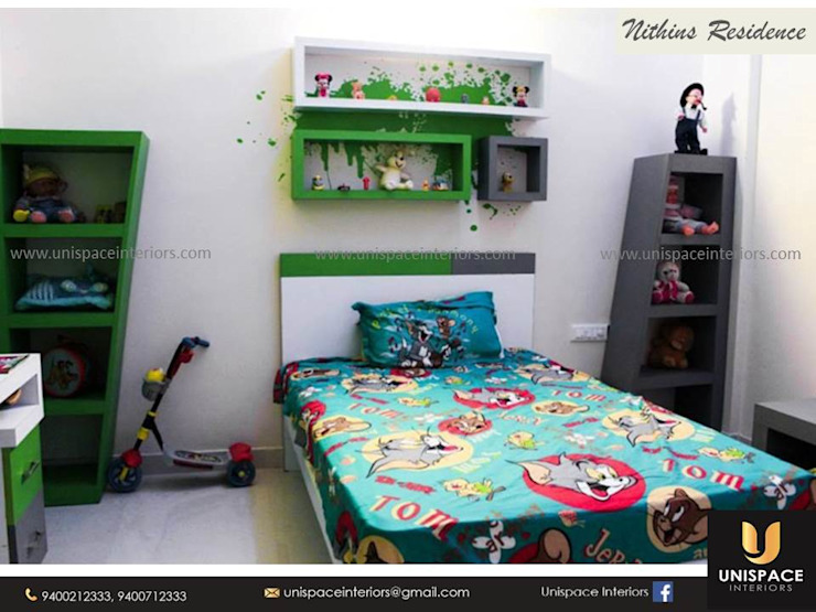 RESIDENCE VILLA APARTMENT INTERIORS -CONTEMPORARY INTERIORS- KIDS ROOM by UNISPACE INTERIOR