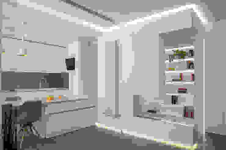 reforma vivienda en calle muelle torradoarquitectura Cocinas de estilo moderno