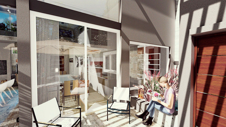 Casa AP Jardines de invierno modernos de Módulo 3 arquitectura Moderno