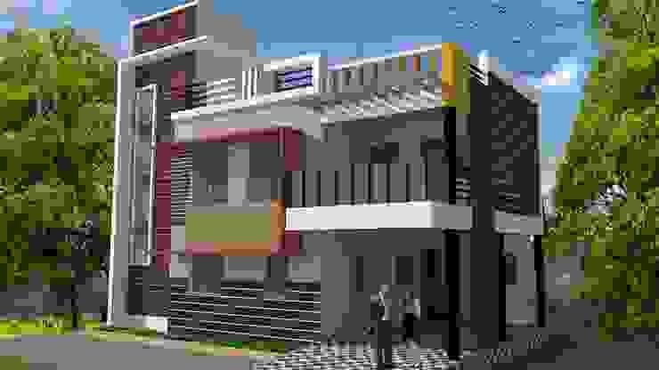 Duplex 5 bhk by Padhi Housing & Industrial Consultants Asian Bricks