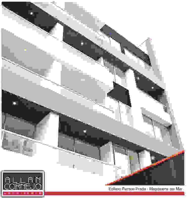 Fachada Terminada Casas de estilo minimalista de Estudio Allan Cornejo Arquitecto Minimalista Concreto