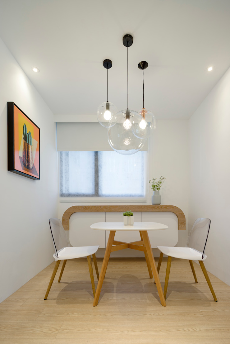 Scandinavian style dining room by 磨設計 Scandinavian