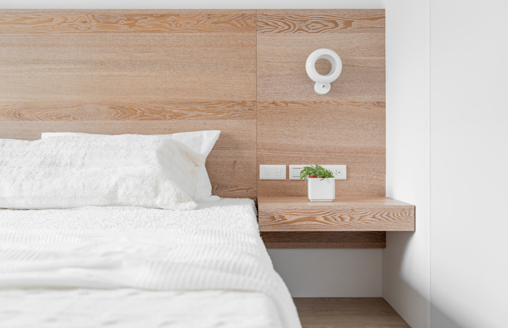 Scandinavian style bedroom by 磨設計 Scandinavian