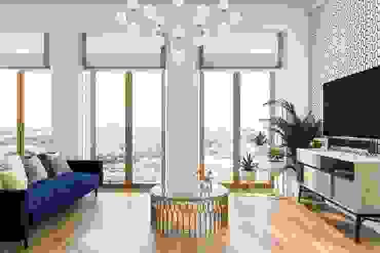 Salones de estilo escandinavo de Дизайн студия Алёны Чекалиной Escandinavo