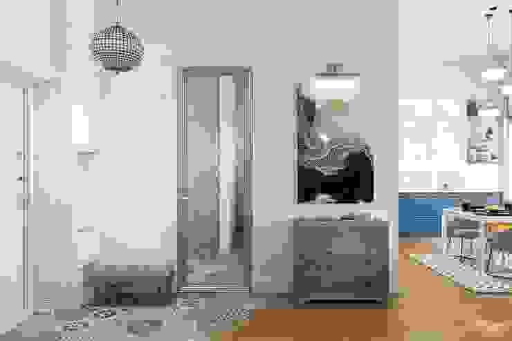 Дизайн студия Алёны Чекалиной Couloir, entrée, escaliers scandinaves