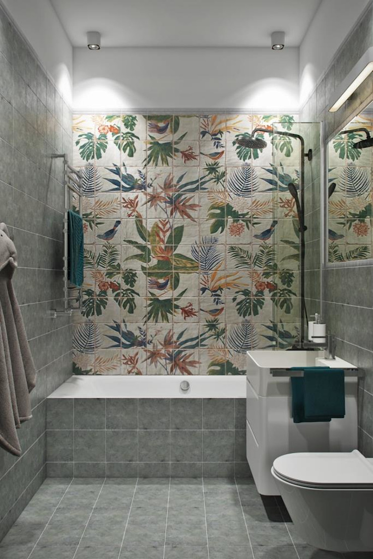 Дизайн студия Алёны Чекалиной Salle de bain scandinave