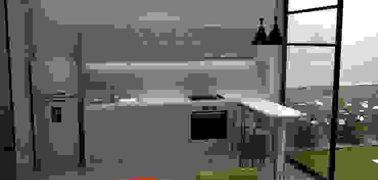 Casa Medianera Cocinas modernas de Elizabeth SJ Moderno