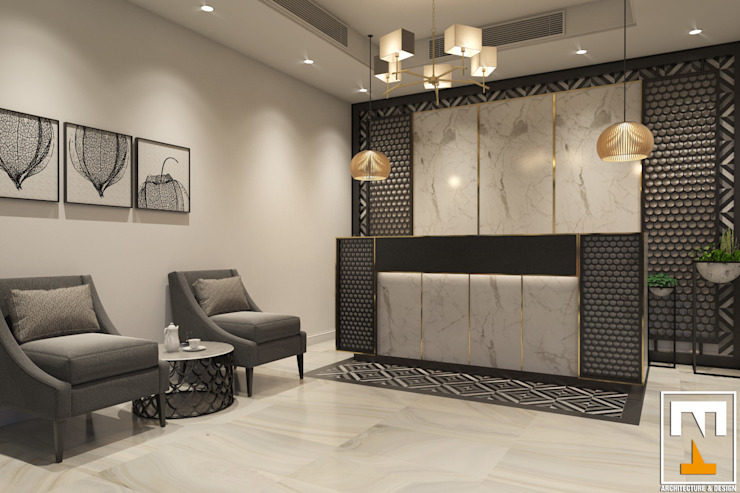Salones modernos de NT.DESIGN Moderno