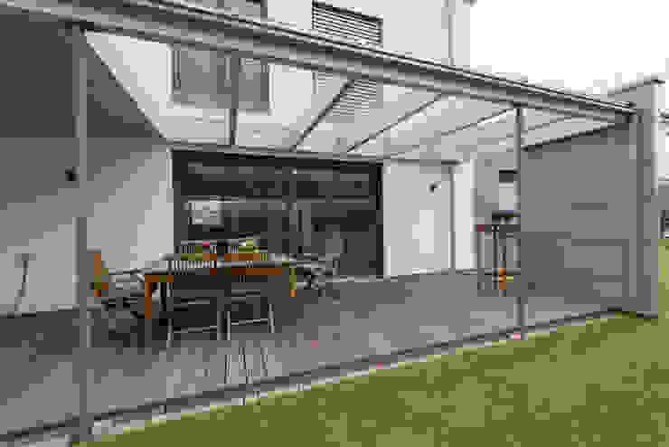 Terrasse Grotegut Architekten Moderner Balkon, Veranda & Terrasse Holz