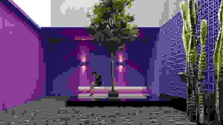 Pasillos, halls y escaleras minimalistas de Obed Clemente Arquitectura Minimalista Concreto