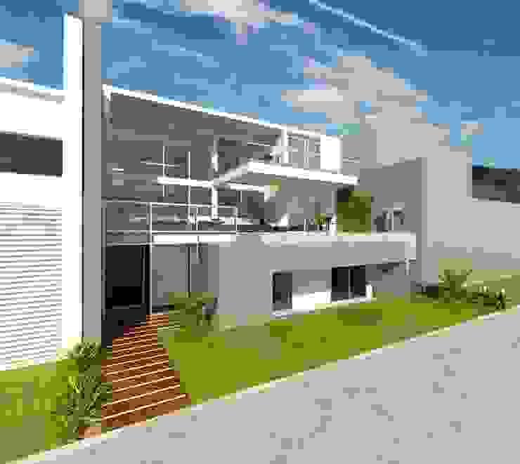 Casa T - Lomas del Mar: Casas unifamiliares de estilo  por bvtarquitecto,