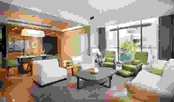 Modern living room by 沐光植境設計事業 Modern Wood Wood effect