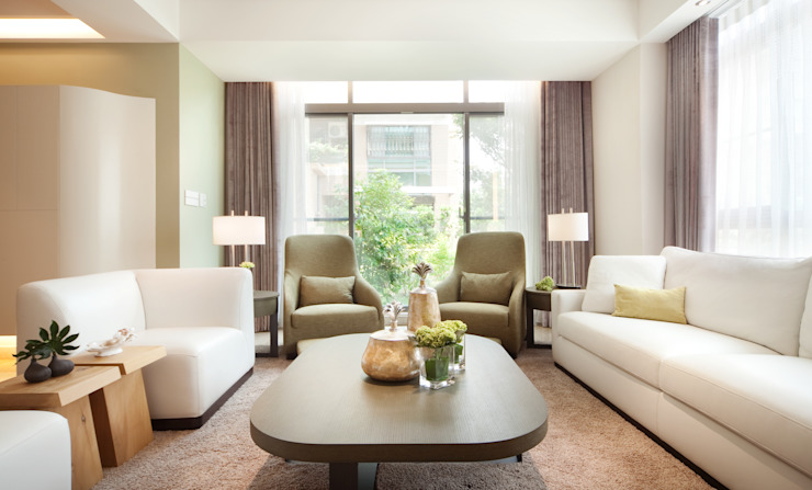 Modern living room by 沐光植境設計事業 Modern Solid Wood Multicolored