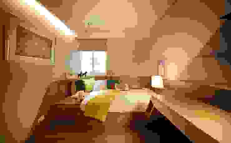 沐光植境設計事業が手掛けた子供部屋, モダン エンジニアリングウッド 透明