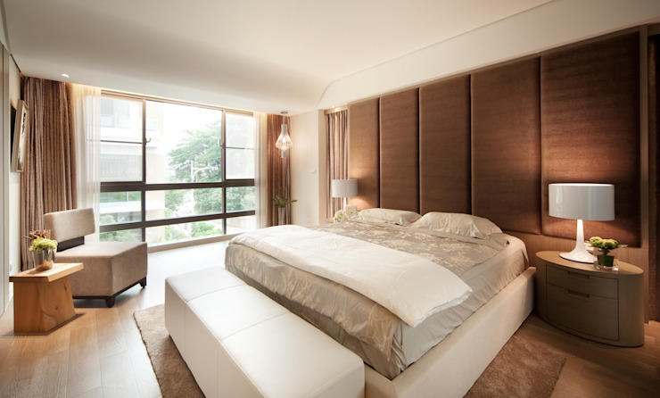 Modern style bedroom by 沐光植境設計事業 Modern Engineered Wood Transparent