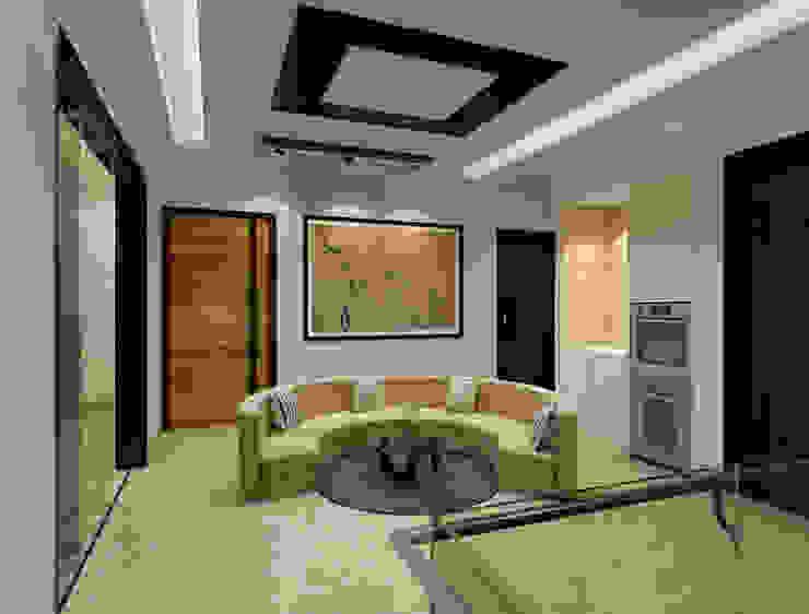 Suneja Residence Interior Design Modern corridor, hallway & stairs by Studio Rhomboid Modern