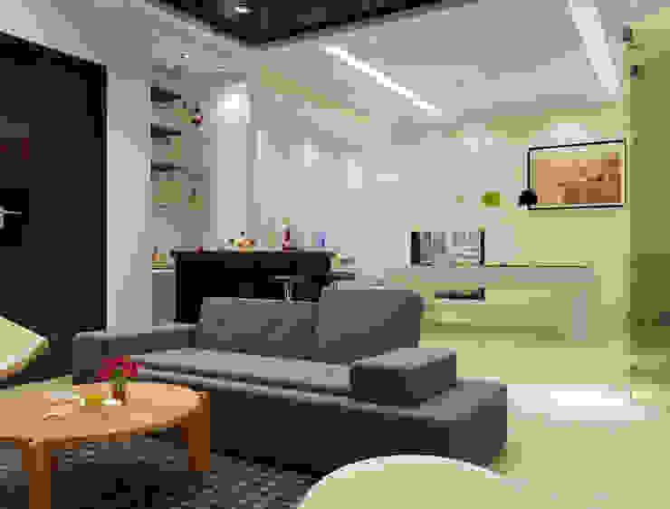 Suneja Residence Interior Design Modern media room by Studio Rhomboid Modern