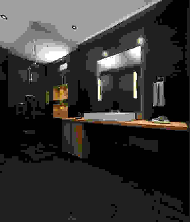 Suneja Residence Interior Design Modern bathroom by Studio Rhomboid Modern Stone