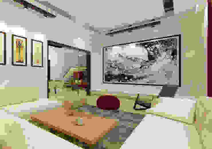 Suneja Residence Interior Design Modern living room by Studio Rhomboid Modern