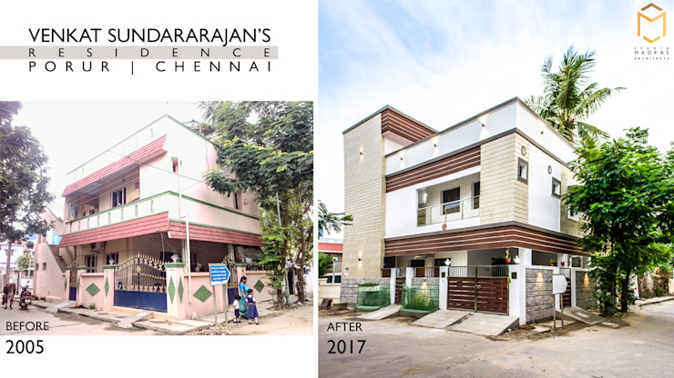 Venkat Sundararajan's Residence - Before & After by Studio Madras Architects