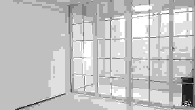 부산 해운대구 좌동 아파트 인테리어 모던스타일 미디어 룸 by 엘레브 디자인 모던