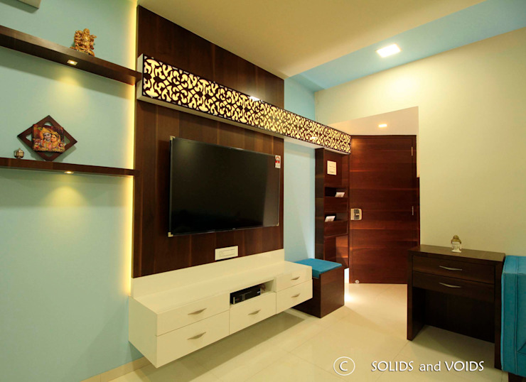 3BHK Apartment: asian  by solids and voids,Asian