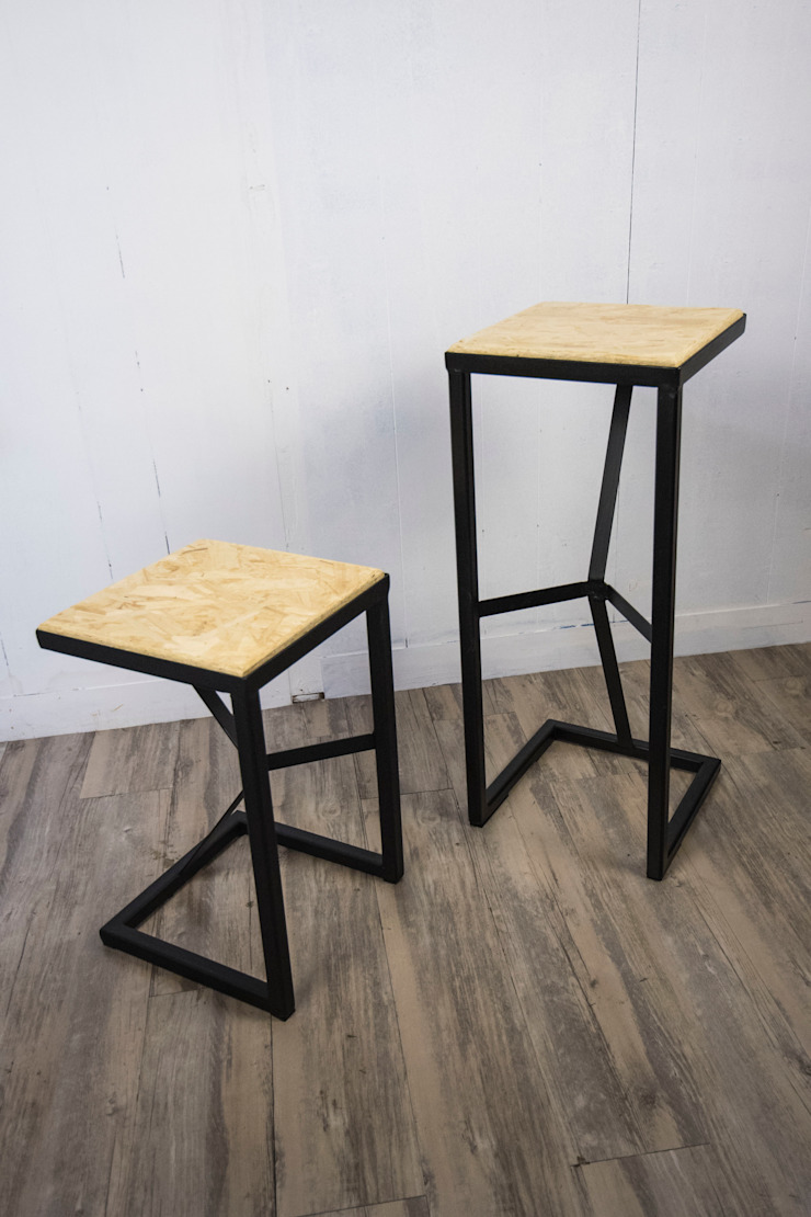 Tetra Steel Bar Stool 750mm: industrial  by SPRUE Limited, Industrial OSB