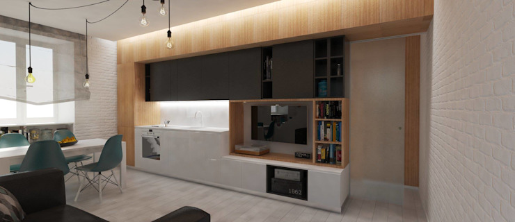 <40MQ ULA architects Cucina in stile industriale