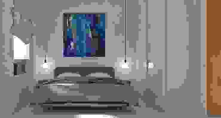 <40MQ ULA architects Camera da letto in stile industriale
