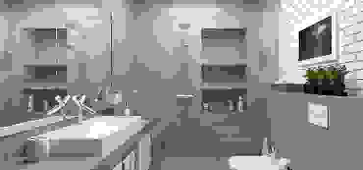 <40MQ ULA architects Bagno in stile industriale