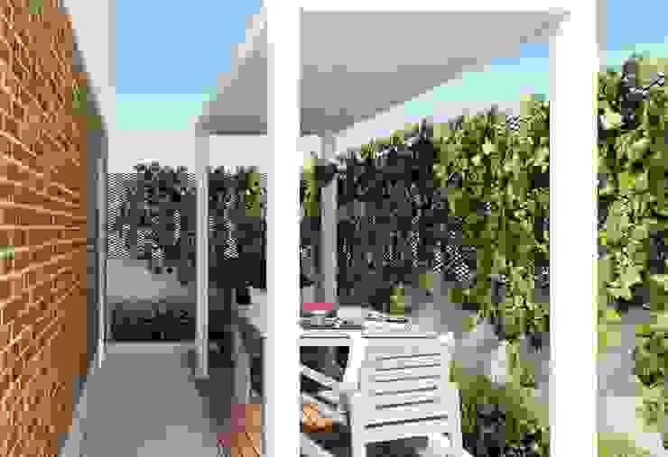 <40MQ ULA architects Giardino d'inverno in stile industriale