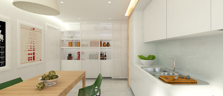 ULA architects Modern style kitchen