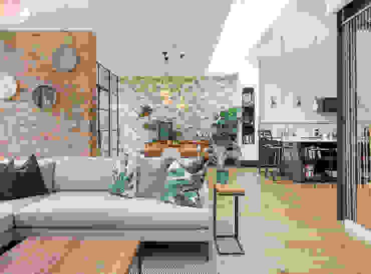 Living space من TAS Architects حداثي