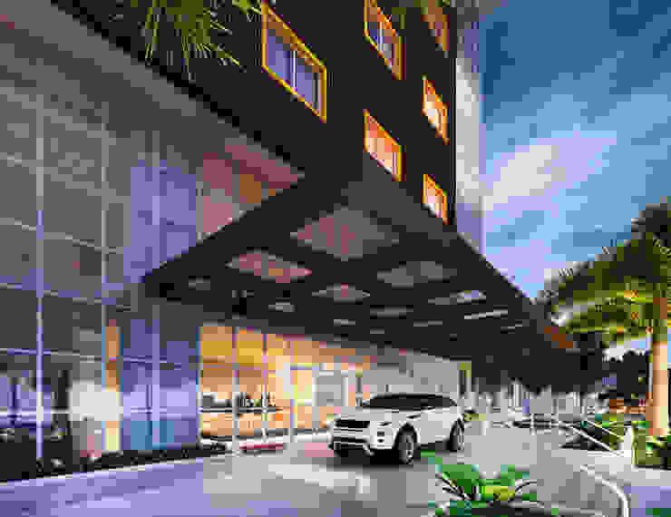 Entrada Hotéis modernos por Marcos Assmar Arquitetura | Paisagismo Moderno