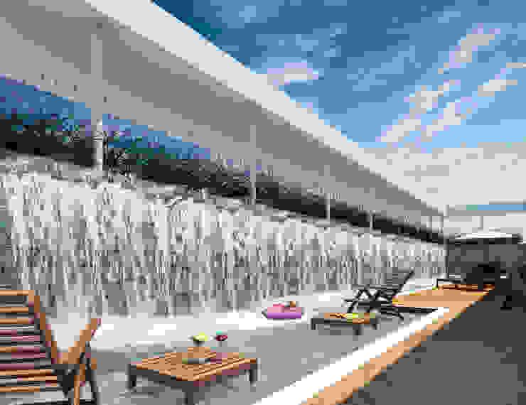 Área de Lazer Hotéis modernos por Marcos Assmar Arquitetura | Paisagismo Moderno