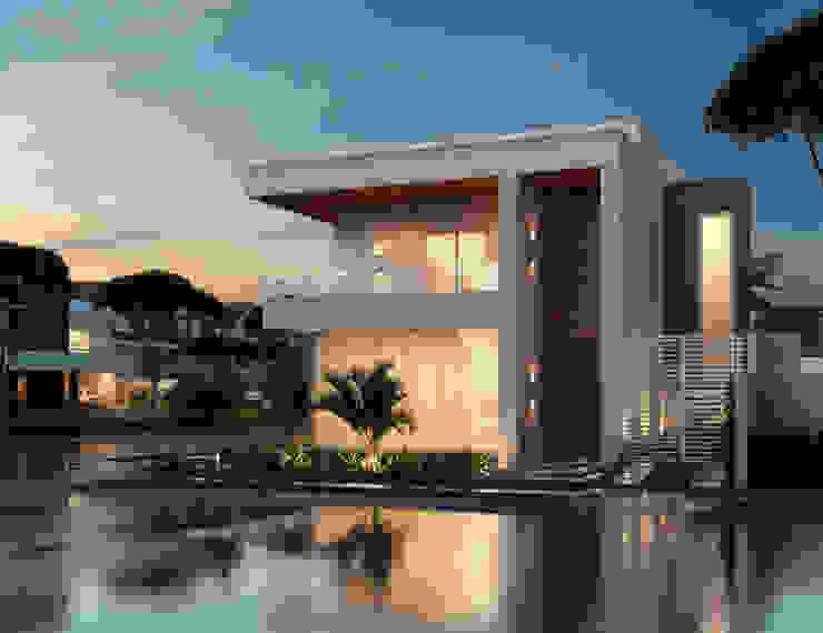 Residência Flores - Perspectiva 02 Marcos Assmar Arquitetura | Paisagismo Casas modernas
