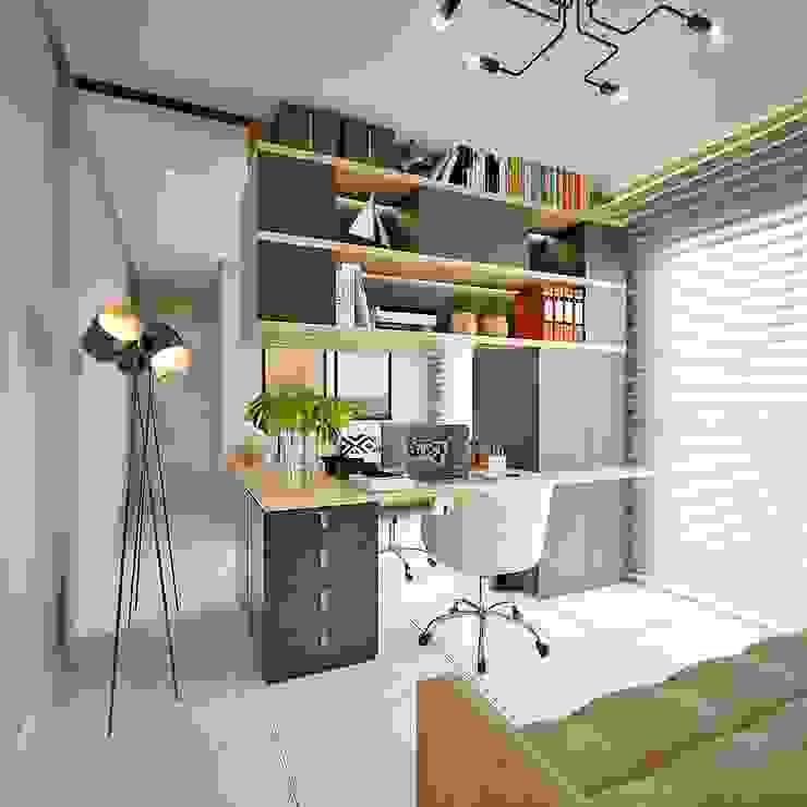 Home Office/Hóspedes homify Escritórios modernos