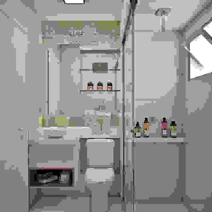 Banheiro Social Banheiros modernos por homify Moderno