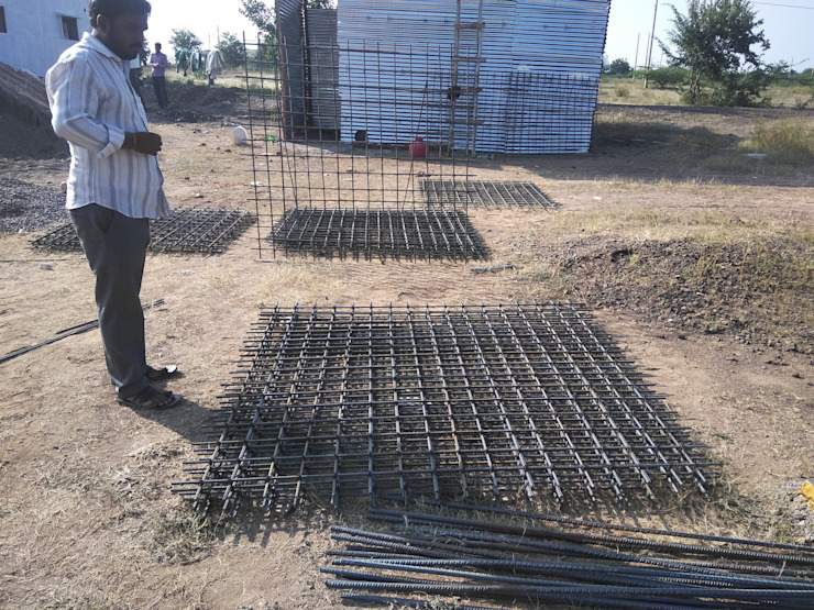 Footing mat by Cfolios Design And Construction Solutions Pvt Ltd Modern Iron/Steel