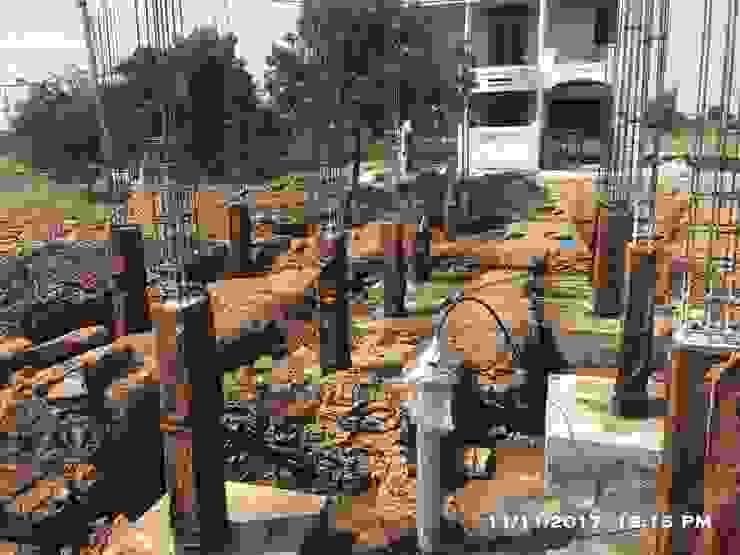 Casting of RCC Stub columns by Cfolios Design And Construction Solutions Pvt Ltd Modern