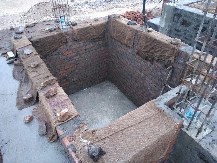 Construction of sump Tank by Cfolios Design And Construction Solutions Pvt Ltd Modern
