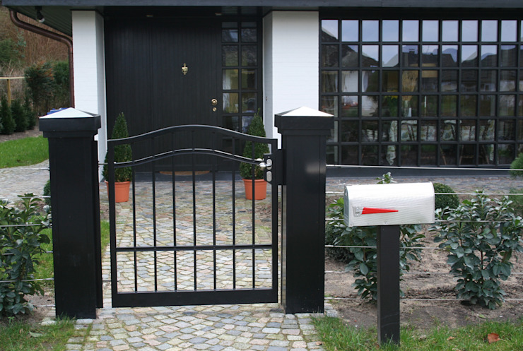 Nordzaun Front yard Iron/Steel Black