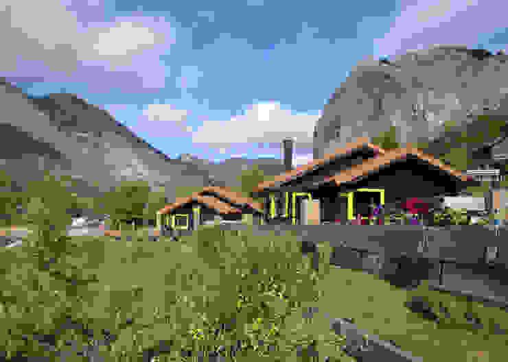 Hotéis rústicos por EC-BOIS Rústico Madeira maciça Multicolor