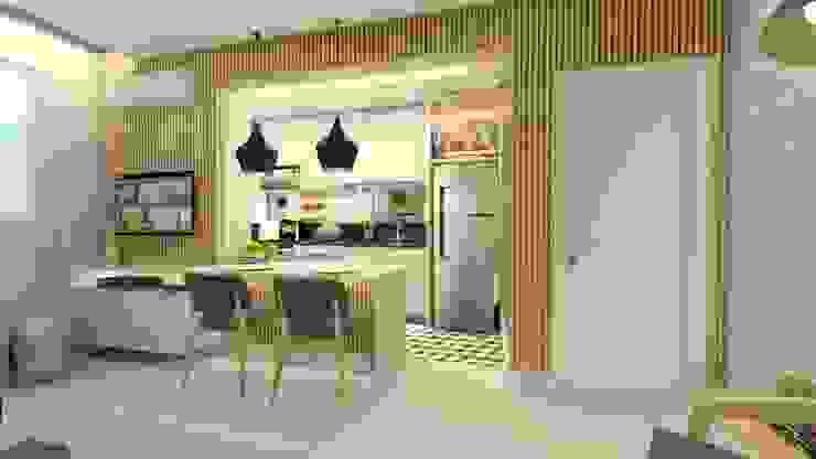 Salas / recibidores de estilo  por Letícia Saldanha Arquitetura, Moderno