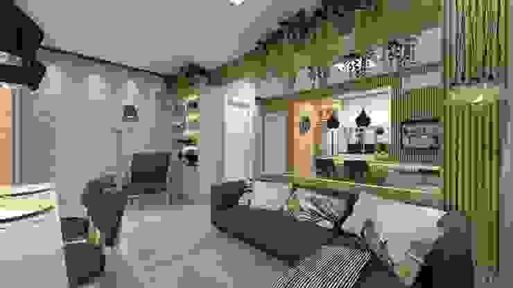 Salones de estilo  de Letícia Saldanha Arquitetura, Moderno